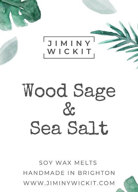 Wood Sage & Sea Salt - Wax Melt Snap Bar