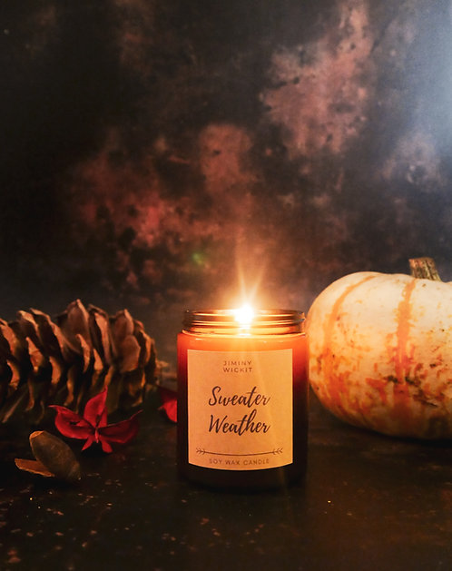 Sweater Weather - Amber Jar Candle