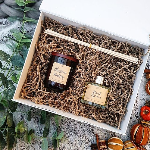 Amber Candle & Reed Diffuser Hamper
