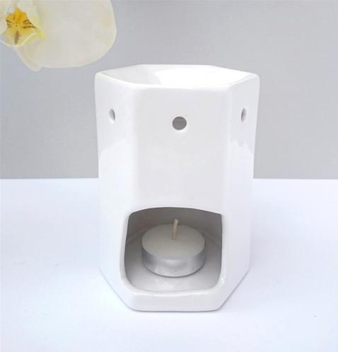 Hexagonal Ceramix Wax Melter - White