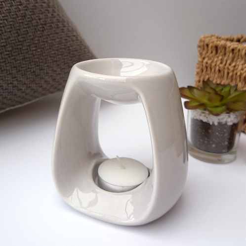Curved Ceramic Wax Melter - Grey