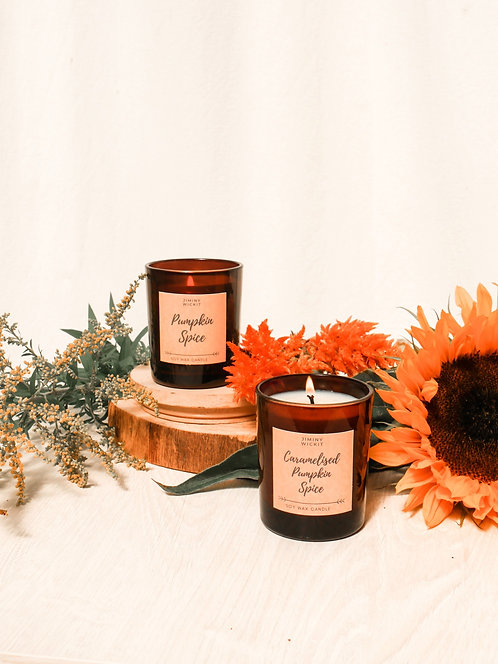 Caramelised Pumpkin Spice - Soy Wax Candle - Various Sizes