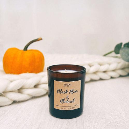 Black Plum & Rhubarb - Soy Wax Candle - Various Sizes