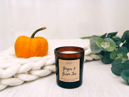 Ginger & Green Tea - Soy Wax Candle - Various Sizes
