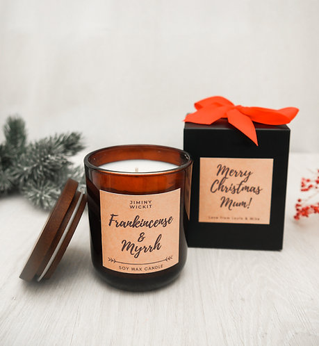 Frankincense & Myrrh - Medium Soy Wax Candle