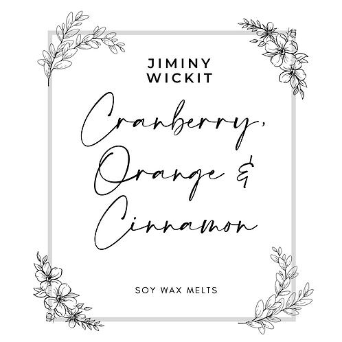 Cranberry, Cinnamon & Orange - Soy Wax Melt Snap Bar