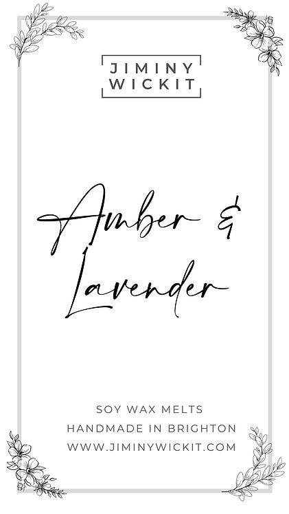 Amber & Lavender - Soy Wax Melt Snap Bar