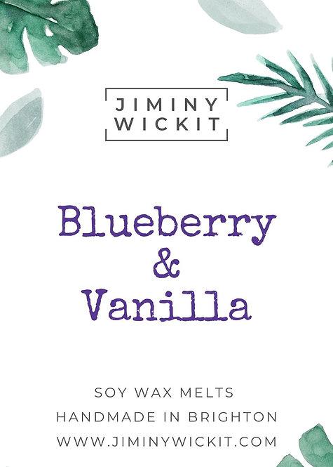 Blueberry & Vanilla - Wax Melt Snap Bar