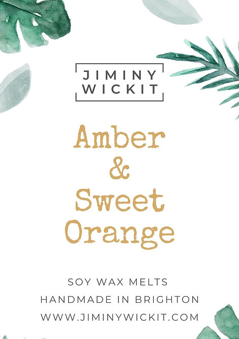 Amber & Sweet Orange - Wax Melt Snap Bar