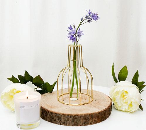 Gold Test Tube Vase