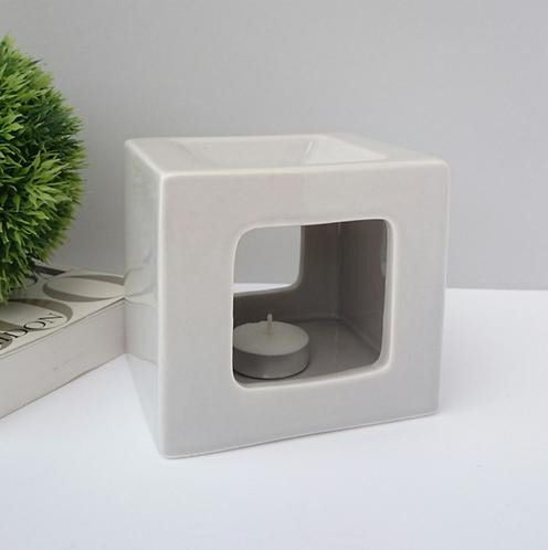 Square Ceramic Wax Melter - Grey