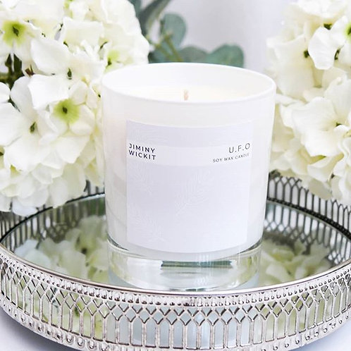 White Glass Candle - 30cl - Various Fragrances