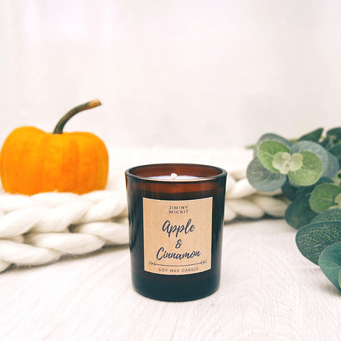 Apple & Cinnamon - Medium Soy Wax Candle