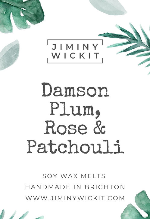 Damson Plum, Rose & Patchouli - Wax Melt Snap Bar