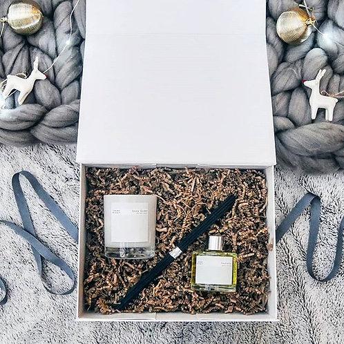 White Candle & Diffuser Hamper