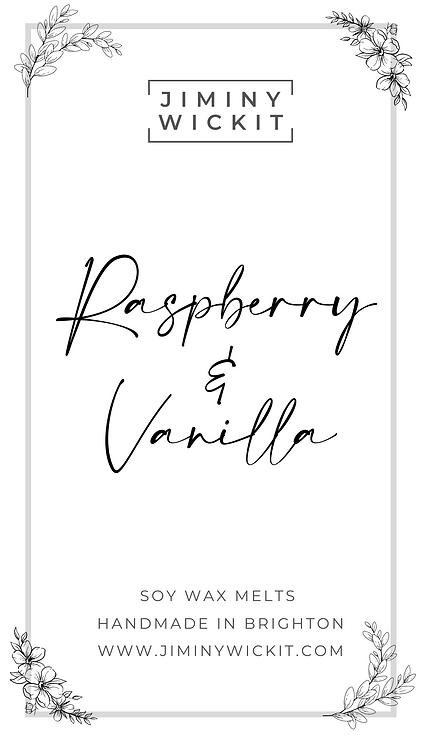Raspberry & Vanilla - Soy Wax Melt Snap Bar