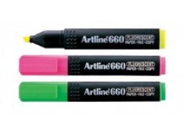 Artline 660 Fluorescent Highlighters, [Wallet of 3] G/Y/P