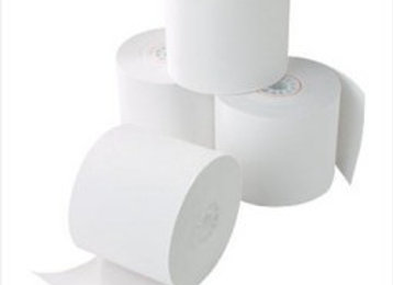 "Cash Register Paper Roll, 1 Ply, 45mm X 70mm X 1/2"", White"