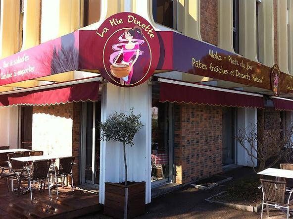 Devanture du restaurant La Mie Dinette à Aix en Provence