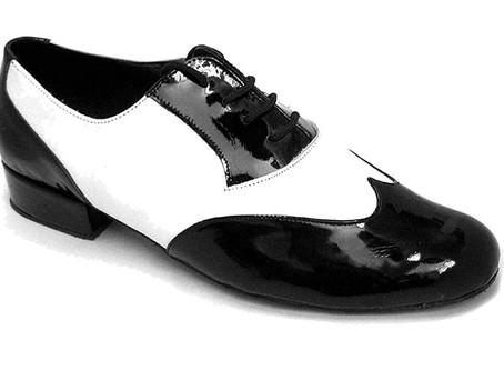Men's Ballroom Salsa Standard & Smooth Black & White Dance Shoes Comfortable - Very Fine (Bundle of