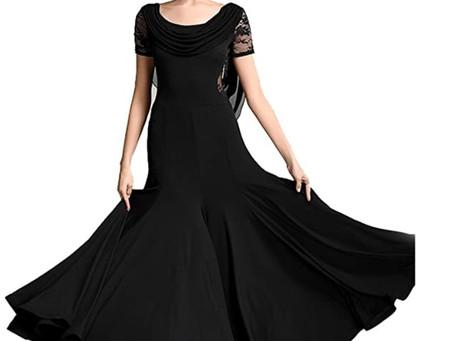 Women Special Neck Design Gauze Joint Lace Short Sleeves Long Hemline Ballroom Waltz Dresses for Fox