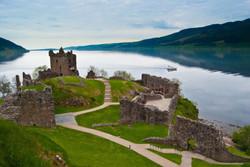 Loch Ness and Drumnadrochit Castle