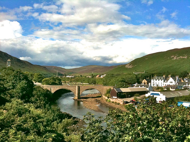 Helmsdale River and Old Bridge