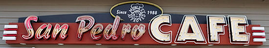 San Pedro Cafe sign