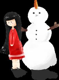 Meisje van Kerstmis