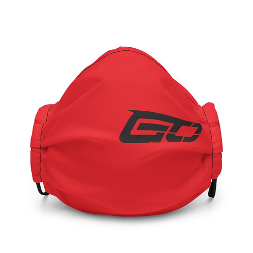 GO (Guns Out) Red Premium face mask