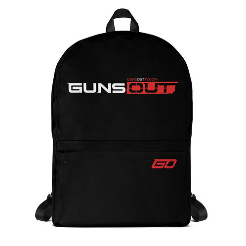 Guns Out Black Backpack