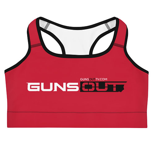 Guns Out Red Sports bra