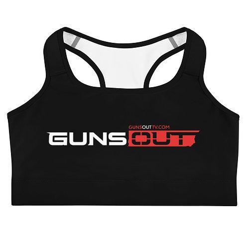 Guns Out Black Sports bra