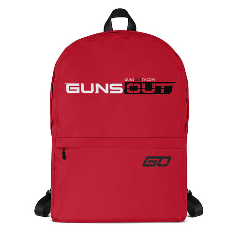 Guns Out Red Backpack
