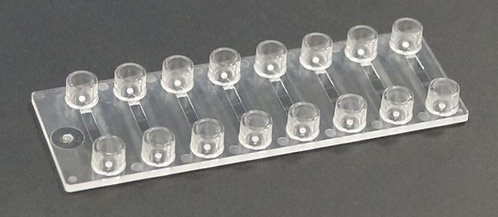 Straight channel cuvette chip, Various chamber volumes  - 6Device - Luer