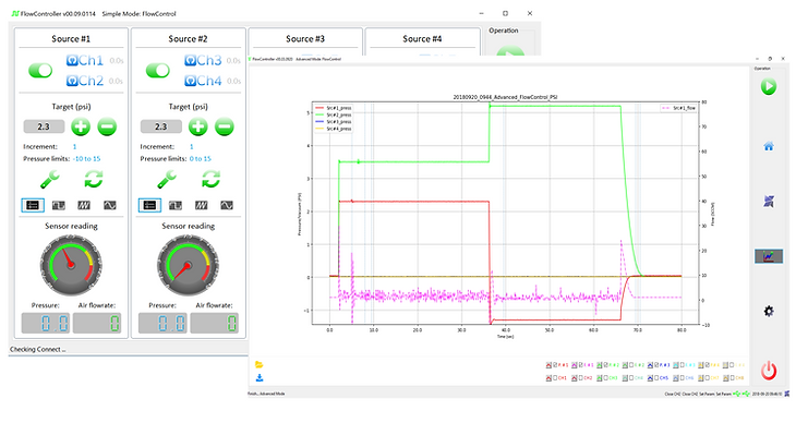 Pressure_Controller_GUI_data_monitor, microfluidic pump, microfluidic pressure pump,  microfluidic pressure controller, , microfluidic pump