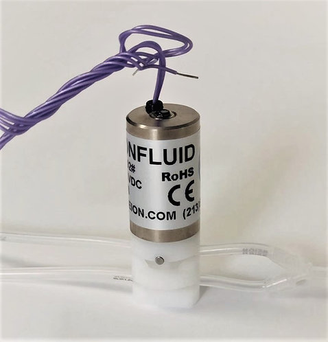 "Solenoid pinch valve; Three-way; 12VDC, 1/16"" ID x 1/8"" OD"