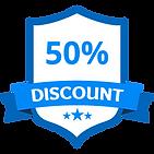 50% Rabatt Blau