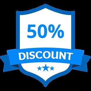 50% de réduction Bleu