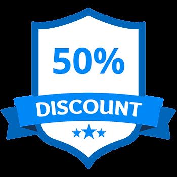 50% Discount Blue