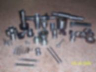 Sample parts on surface plate