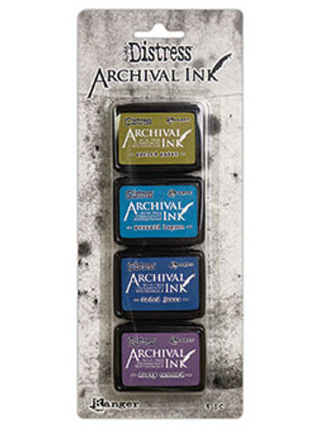 Tim Holtz Ranger Mini Distress Archival Ink Set of 4  Set #2