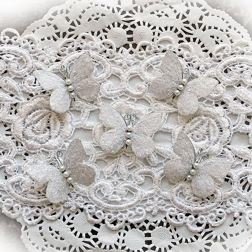 Tiny Treasures Sweet Pea White Premium Paper Glitter Glass