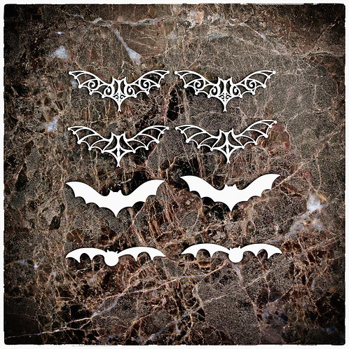 Beautiful Board Medium Bundle Of Bats  Laser Cut Chipboard