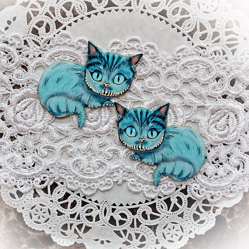 Printed Beautiful Board Tiny Cheshire Cat Laser Cut Chipboard Di