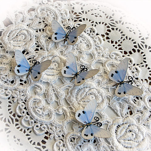 Tiny Treasures Sweet Dreams Cornflower Blue Premium Paper Butterflies