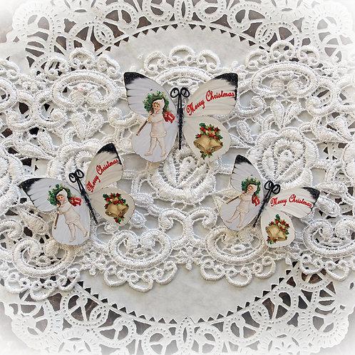 Merry Christmas Premium Paper Butterflies