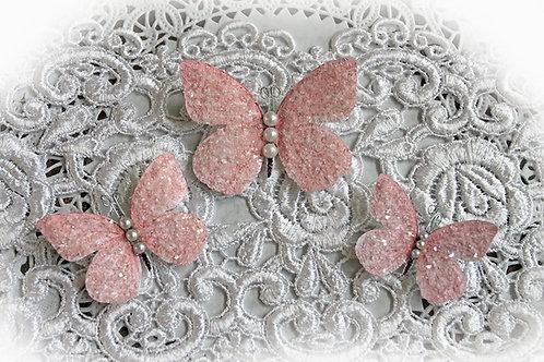 Sweet Pea Premium Paper Glitter Glass Butterflies