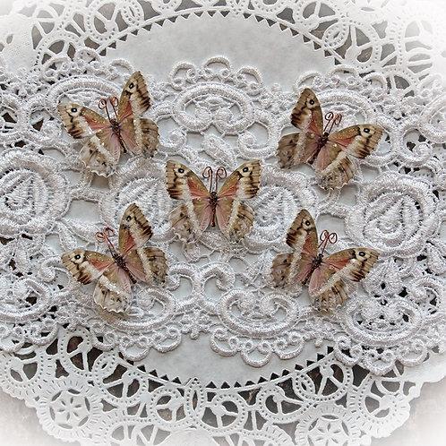 Tiny Treasures Rose Quartz Premium Paper Glitter Glass Butterflies