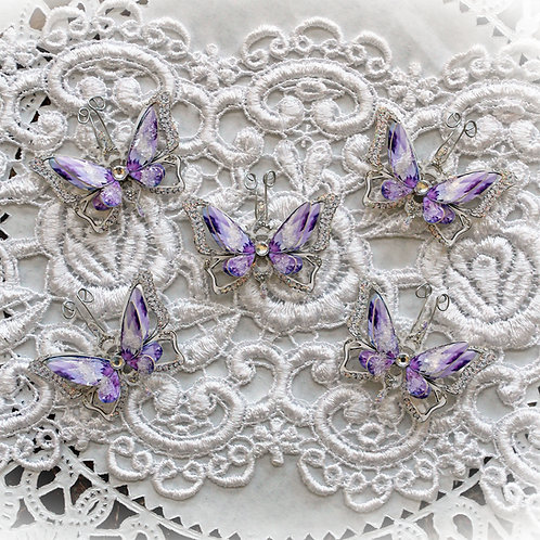 Tiny Treasures Ice Princess Purple Premium Paper Butterflies